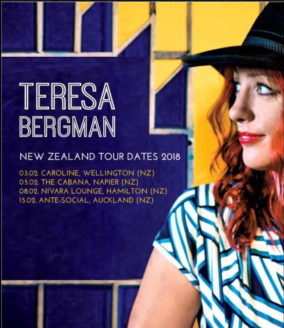 Teresa Bergman NZ tour gig