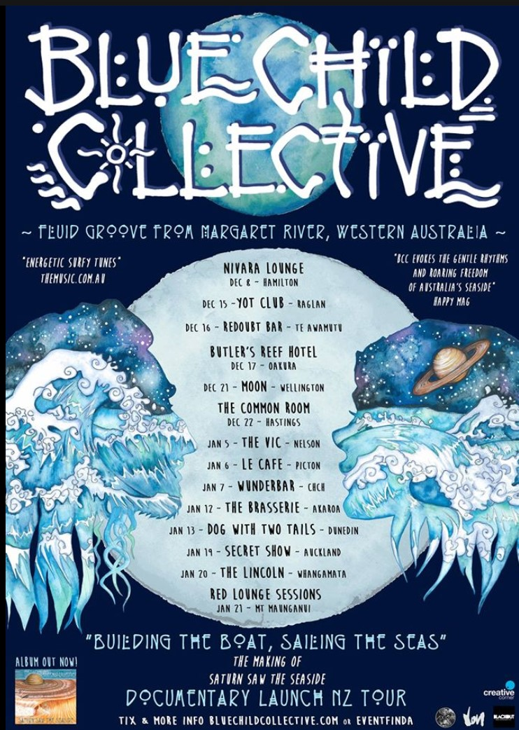 Blue Child Collective NZ Tour poster