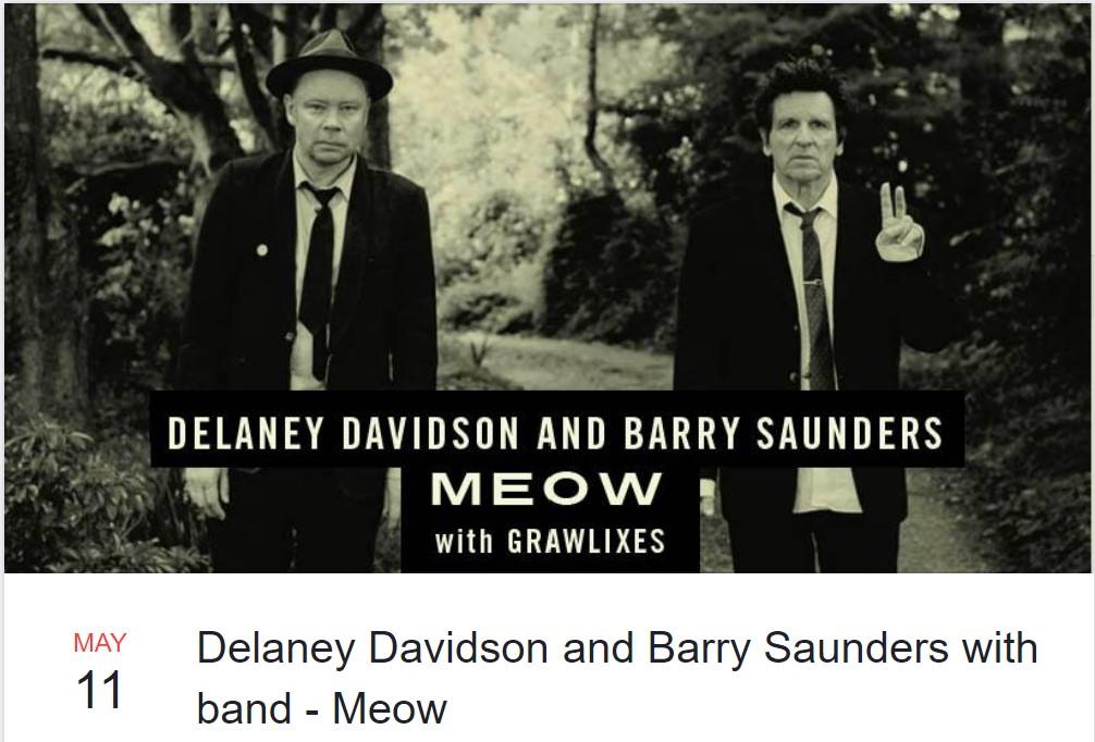 Delaney Davidson & Barry Saunders Meow Gig